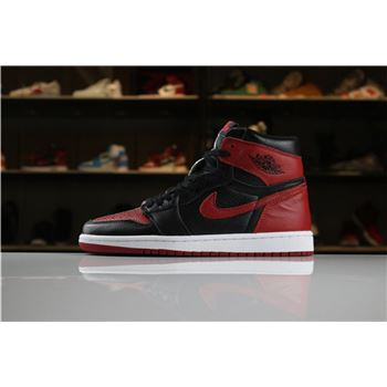 2018 Air Jordan 1 Retro High OG Homage To Home Black/White-University Red For Sale