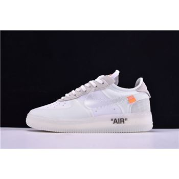 2018 Off-White x Nike Air Force 1 Low Ghosting White/Sail By Virgil Abloh