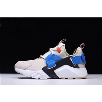 Nike WMNS Air Huarache City Low Cream Desert Sand-Blue Nebula AH6804-006