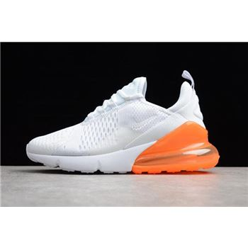 Mens and WMNS Nike Air Max 270 White/Total Orange AH8050-102
