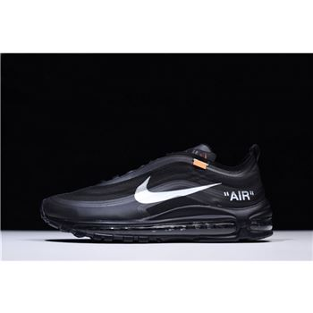 Virgil Abloh's Off-White x Nike Air Max 97 OG Black Men's Size AJ4585-001