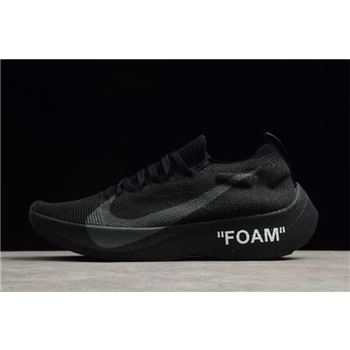 2018 Off-White x Nike Vapor Street Flyknit Black AQ1763-002 For Sale