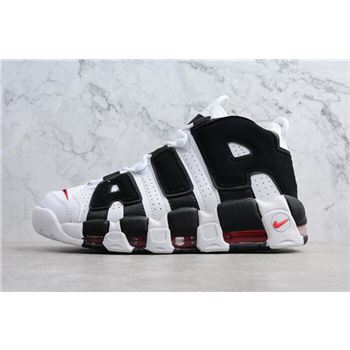 Men's and Women's Nike Air More Uptempo Scottie Pippen PE White/Black-Varsity Red 414962-105
