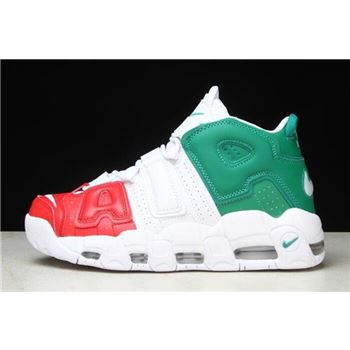 Nike Air More Uptempo '96 Italy QS University Red/Lucid Green-White AV3811-600