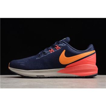 Nike Air Zoom Structure 22 Blackened Blue/Orange Peel AA1636-400