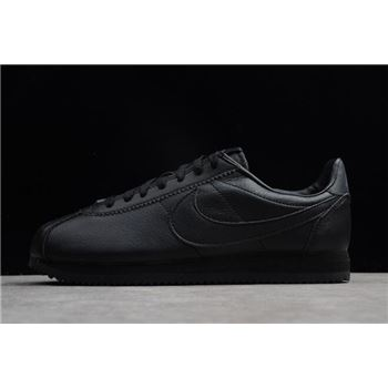 Nike Classic Cortez Leather Black/Black-Anthracite Men's Size 749571-002 Free Shipping