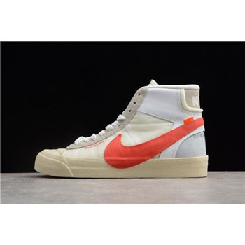 Supreme x OFF-White x Nike Blazer Studio Mid Sail/White-Muslin-Red AA3832-006