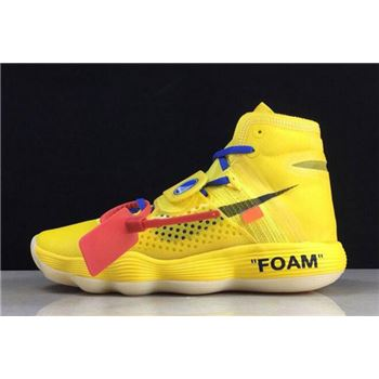 2018 Off-White x Nike REACT Hyperdunk 2017 Flyknit Yellow AJ4578-700