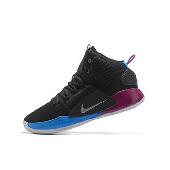 2018 Nike Hyperdunk X Black Purple Blue Shoes On Sale