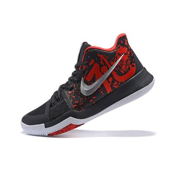 Latest Nike Kyrie 3 Samurai Dark Obsidian/Red-White 852395-900