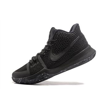 Latest Nike Kyrie 3 Triple Black Marble Men's Basketball Shoes 852396-005