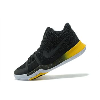 Men's Nike Kyrie 3 Black Yellow Black/Varsity Maize-White 852395-901
