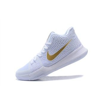Men's Nike Kyrie 3 Christmas PE White/Metallic Gold 852396-902
