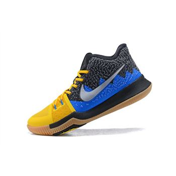 Men's Nike Kyrie 3 What The University Gold/Blue Glow-Black Basketball Shoes