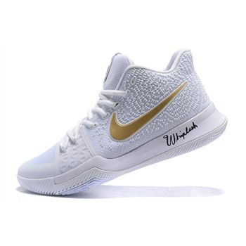 Nike Kyrie 3 White/Metallic Gold Christmas Day Men's Basketball Shoes