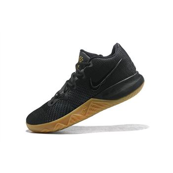 Men's Nike Kyrie Flytrap Black/Gum-Metallic Gold Free Shipping