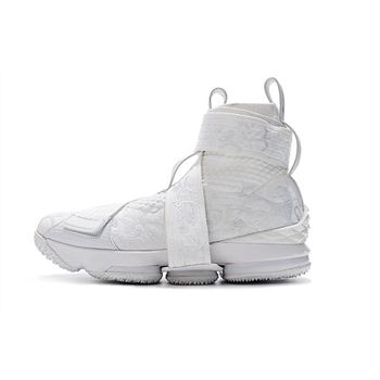 KITH x Nike LeBron 15 Lifestyle City of Angels Triple White Men's Basketball Shoes