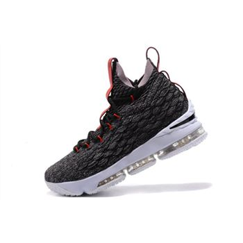 Nike LeBron 15 Black/Burgundy-White Men's Basketball Shoes