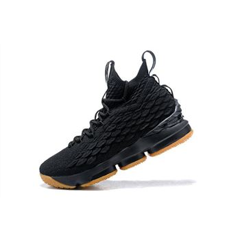 Nike LeBron 15 Black Gum 897648-300 Men's Basketball Shoes