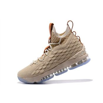 Nike LeBron 15 Ghost String/Vachetta Tan-Sail Basketball Shoes 897648-200