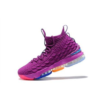 Nike LeBron 15 What The Volt & Purple For Sale