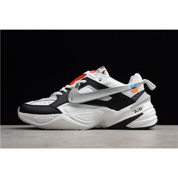 2018 Off-White x NIKE M2K Tekno Black/White-Grey Men's and Women's Size A03108-062