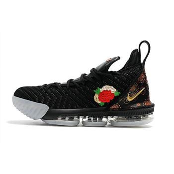 Nike LeBron 16 Chinese New Year Black/University Red/White-Metallic Gold
