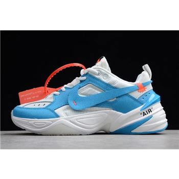 Off-White x Nike M2K Tekno UNC White/Dark Powder Blue-Cone AO3108-080