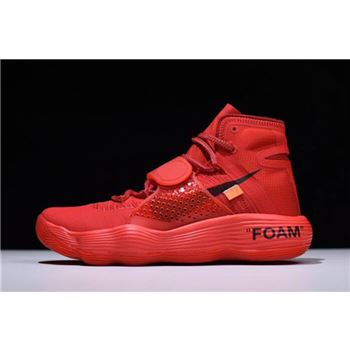 Virgil Abloh Off-White x Nike REACT Hyperdunk 2017 Big Red/Black-Orange AJ4578-102