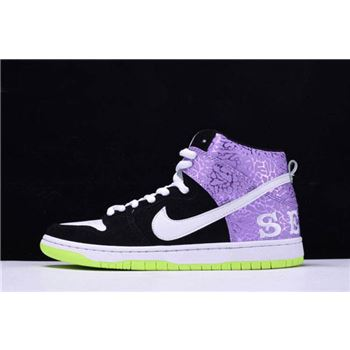 Nike Dunk High Prm SB Send Help 2 Black/Mortar-Dark Raspberry 616752-016
