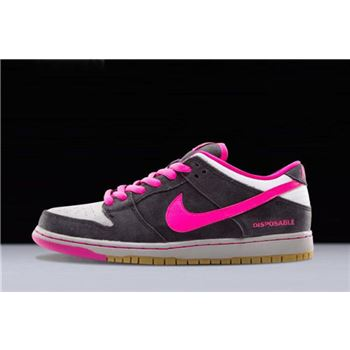 Nike SB Dunk Low Premium QS Disposable Black/Pink Foil-White 504750-061