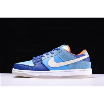 Nike SB Dunk Low Premium QS Mia Skate Shop 10th Year Anniversary Brv Blue/Mtlc Gld Str-Mnrl Bl 504750-474