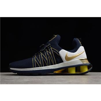 Nike Shox Gravity Midnight Navy/Metallic Gold Men's Size AR1999-400