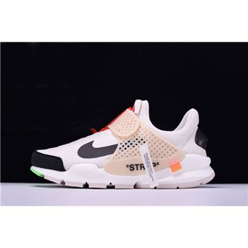 Cheap Off-White x Nike La Nike Sock Dart White/Black AA8696-101