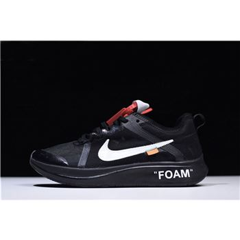 2018 Off-White x Nike Zoom Fly Black/White Men's Running Shoes AJ4588-001