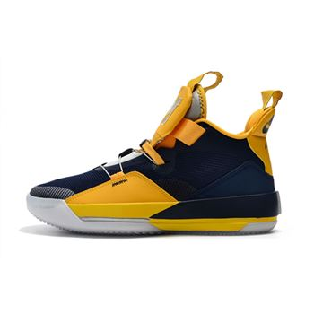 Air Jordan 33 Michigan PE Navy Blue/Maize