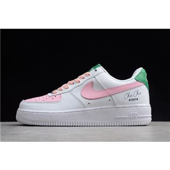 Womens Nike Air Force 1 Low White/Pink-Green 314219-130