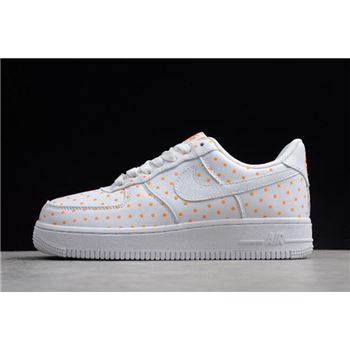 Womens Nike Force 1 Low AF-1 White/Orange AT0062-181