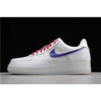 Nike Air Force 1 LV8 White/Purple-Bright Crimson 823511-100