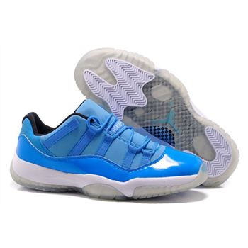 Men's and Women's Air Jordan 11 Low Pantone University Blue/White