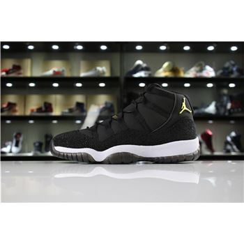 Air Jordan 11 PRM Heiress Black Stingray Black/Metallic Gold-White 852625-030