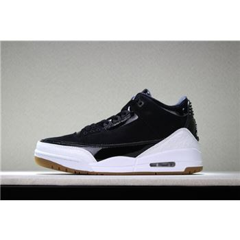2018 Air Jordan 3 Black White Gum Men's and Women's Size 441140-022 Free Shipping