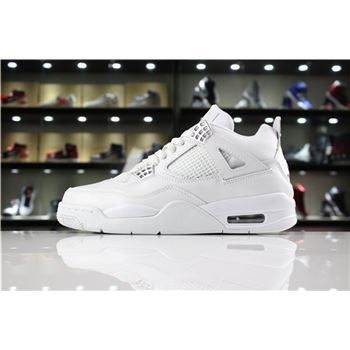 Air Jordan 4 IV Pure Money White/Metallic Silver 308497-100