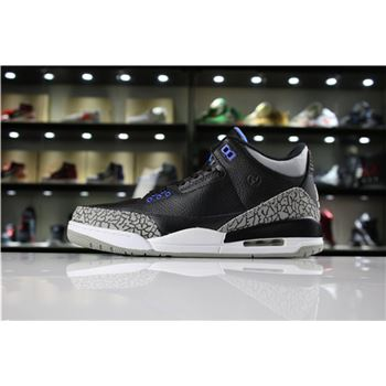 Fragment Design x Air Jordan 3 Retro Black/Royal Blue-White