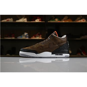 2018 Air Jordan 3 JTH NRG Coffee Brown/Black-White AV6683-300 For Sale