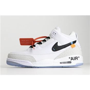 Off-White x Air Jordan 3 Pure White/Black Men's Size For Sale