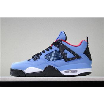 2018 Air Jordan 4 Travis Scott University Blue/Varsity Red-Black 308497-406