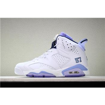 Air Jordan 6 UNC Championship PE White/University Blue 384664-110