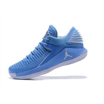 New Air Jordan 32 Low UNC University Blue/White Men's Basketball Shoes