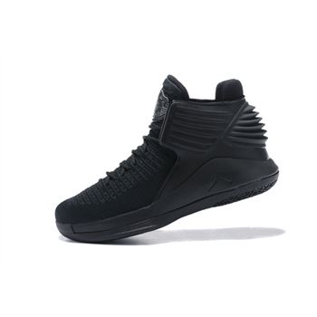 Latest Air Jordan 32 Triple Black Men's Basketball Shoes